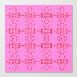Luxury vint. ornaments Pink ethnic Canvas Print