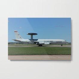 US Air Force AWACS landing Metal Print