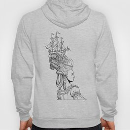 Girl With Ship Hoody