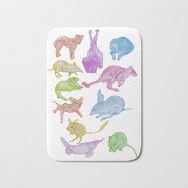 Australian Animals Partying! Bath Mat
