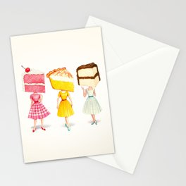 Cake Head Pin-Ups Stationery Cards