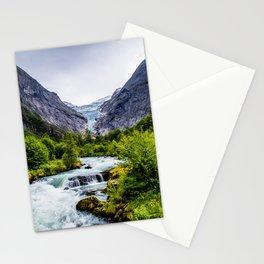 Briksdal Glacier Stream Stationery Cards