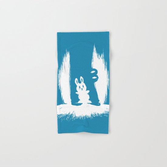 cornered! (bunny and crocodile) Hand & Bath Towel