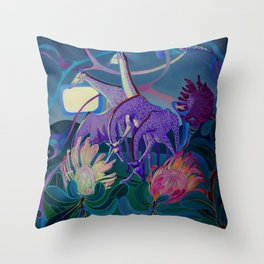 Moonlight dances Throw Pillow