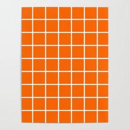 orange cube Poster