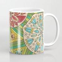 green pattern Mugs featuring Green pattern by Lisidza's art