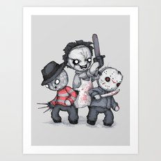 Horror Trifecta Plushie  Art Print