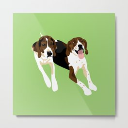 Maggie and Lucy Metal Print