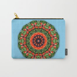 Red Poppies, Nature Flower Mandala, Floral mandala-style Carry-All Pouch