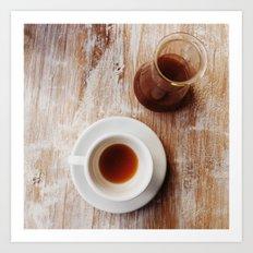 Coffee on the table Art Print
