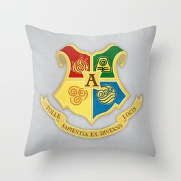 The Avatar School of Bending Throw Pillow