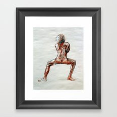 Trois Conte Framed Art Print
