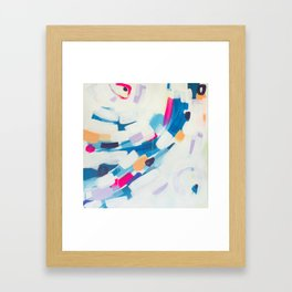 Blue Sweeps 3 Framed Art Print