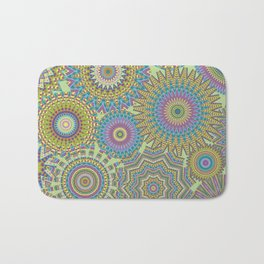 Kaleidoscopic-Jardin colorway Bath Mat