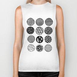 Simple Circle Patterns Collection Biker Tank