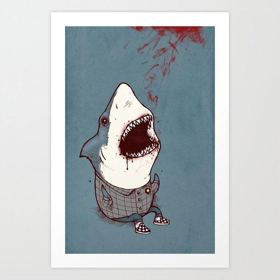 Shark Bites Art Print