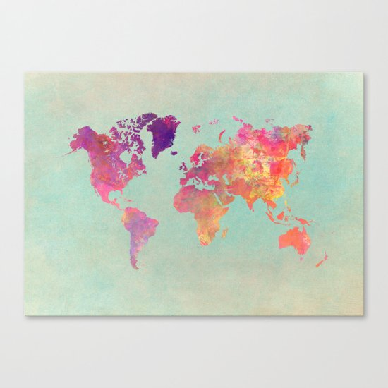 world map 102 worldmap map Canvas Print by Jbjart Society6