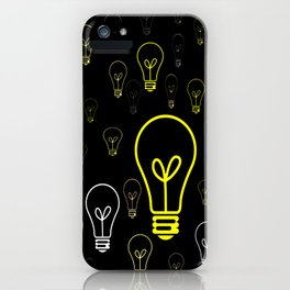 Numerous drawings of incandescent lamps type cartoons iPhone Case
