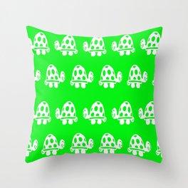 TORTOISE GREEN NURSERY PRINT Throw Pillow