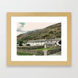 Boscastle  cottages Framed Art Print