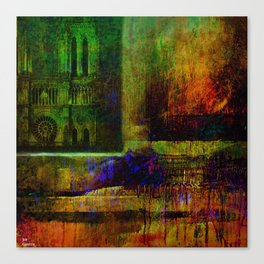 See Notre-Dame-de-Paris since the window Canvas Print