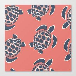Lu's Pink Sea Turtles Canvas Print