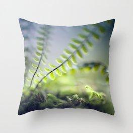 little green Throw Pillow