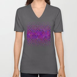 Purple Shapes Dispersion Pattern Unisex V-Neck