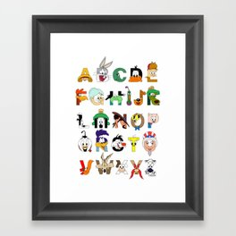 That's Alphabet Folks Framed Art Print