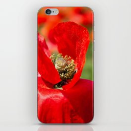 Anatomy of a Poppy: Bed of Petals iPhone Skin