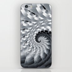 Bladed Black and White Spiral iPhone & iPod Skin