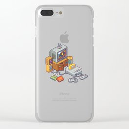 Retro gaming console Clear iPhone Case
