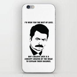 Swanson quote iPhone Skin