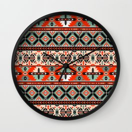 Navajo Pattern 2 Wall Clock