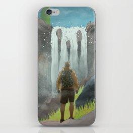 HK Bokuto's waterfall iPhone Skin