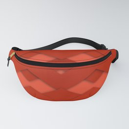 Beautiful Red Zigzag Design Fanny Pack