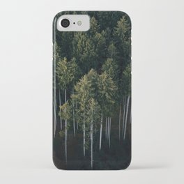Aerial Photograph of a pine forest in Germany - Landscape Photography iPhone Case