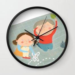 Fall Intrigue Wall Clock