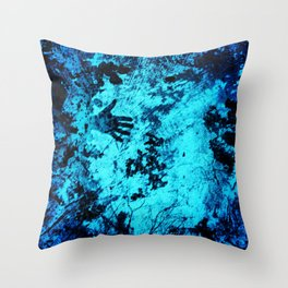 Cave Pool Painting Throw Pillow