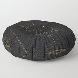 Tarot geometric #3: North star Floor Pillow