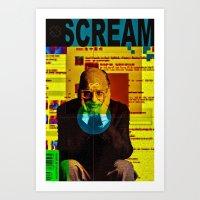 scream Art Prints featuring Scream by Alec Goss