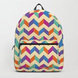 Coloured Chevron Backpack