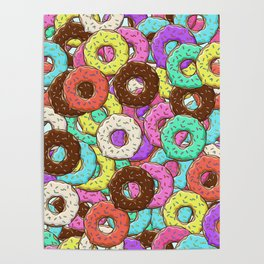 so many donuts Poster