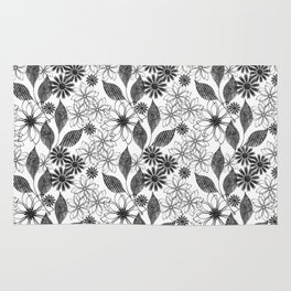 Flowers on a white background. Rug