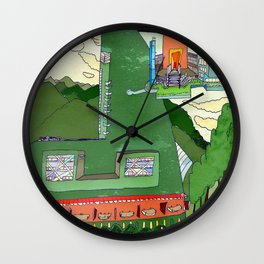 Futuristic Airport Wall Clock