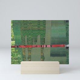 green scan 3 Mini Art Print