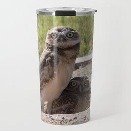 Baby Burrowing Owls Travel Mug