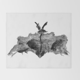Abstract Charcoal Butterfly Throw Blanket