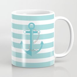 AFE Nautical Aqua Ship Anchor Coffee Mug