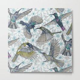 hum sun honey birds blue Metal Print